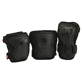Фото 1 к товару Защита для катания на роликах (комплект) К2 SK8 Hero Pro JR Pad Set черная, размер - XS