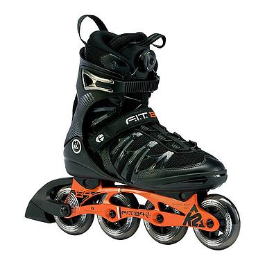 Коньки роликовые K2 FIT 84 BOA 2013 черно-оранжевые