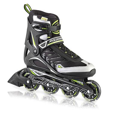 Коньки роликовые Rollerblade Spiritblade Comp 2013 черно-зеленые