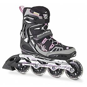 Фото 1 к товару Коньки роликовые женские Rollerblade Spark XT 84 W 2013 черно-розовые - р. 36