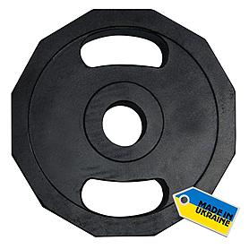Диск олимпийский 15 кг Newt с хватами - 51 мм