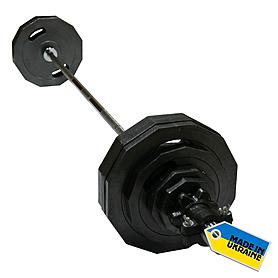 Фото 2 к товару Штанга олимпийская наборная Newt 73 кг - гриф 1,8 м