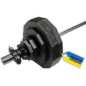 Фото 5 к товару Штанга олимпийская наборная Newt 100 кг - гриф 2,2 м