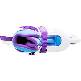 Фото 2 к товару Коньки роликовые раздвижные Reaction Galaxy GL15G-0P бело-фиолетовые, р. 27-30
