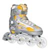 Коньки роликовые раздвижные Tempish I-MAX junior серебристые с желтыми вставками - фото 1