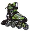 Коньки роликовые раздвижные Tempish Racer зеленые - фото 1