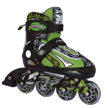 Коньки роликовые раздвижные Tempish Racer зеленые