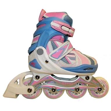 Коньки роликовые раздвижные Kepai F1-V5 розовые