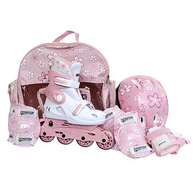 Коньки роликовые раздвижные Tempish  Baby Skate розовые