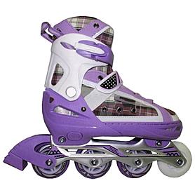 Коньки роликовые раздвижные Kepai F1-S2 фиолетовые