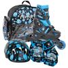 Коньки роликовые раздвижные Tempish UFO Baby Skate чёрный с голубым рисунком - фото 1