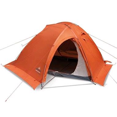Палатка двухместная Pinguin Vega Extreme (с юбкой) оранжевая