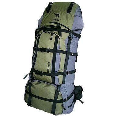 Рюкзак туристический Tramp Tourist 90 зеленый с серым