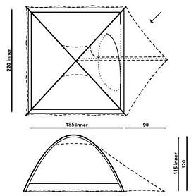 Фото 2 к товару Палатка трехместная Hannah Compact 3 cypress