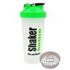 Шейкер Smart Shake 600 мл бело-зеленый - фото 1