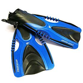 Фото 1 к товару Ласты с открытой пяткой Dolvor с регулятором размера синие