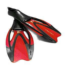 Ласты с закрытой пяткой Dolvor F727 красные, размер - 44-45