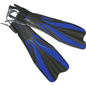 Ласты с открытой пяткой Dolvor F30 синие, размер - 43-45