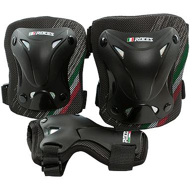 Защита для катания (комплект) Roces 3-pack protective set черная, размер М