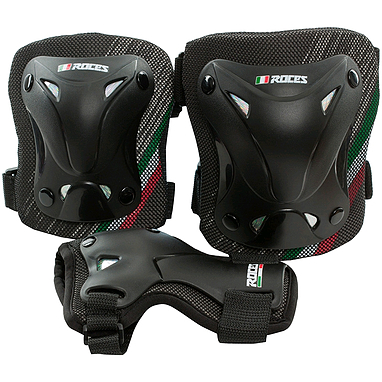 Защита для катания (комплект) Roces 3-pack protective set черная, размер S