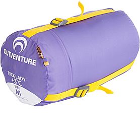 Фото 3 к товару Мешок спальный (спальник) Outventure Trek фиолетовый левый