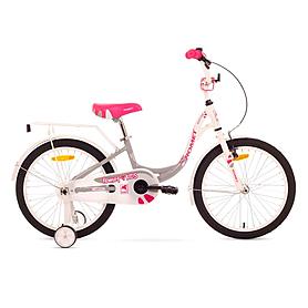 """Велосипед детский Romet Diana 20"""" 2015 белый с серым - рама 10"""""""