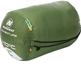 Фото 2 к товару Мешок спальный (спальник) Nordway Adventure зеленый правый