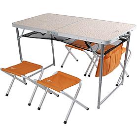 Стол складной + 4 стула Outventure морковный