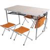 Стол раскладной + 4 стула Outventure OIE41852 оранжевый - фото 1
