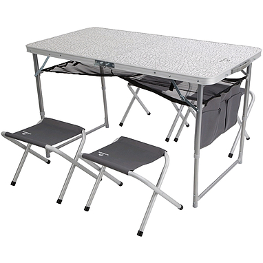 Стол складной + 4 стула Outventure графитовый