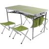 Стол раскладной + 4 стула Outventure OIE418G2 салатовый - фото 1