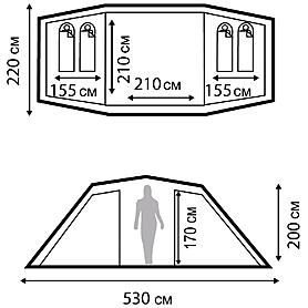 Фото 3 к товару Палатка четырехместная Nordway Twin Sky 4