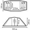 Палатка четырехместная Nordway Twin Sky 4 - фото 3