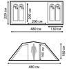 Палатка четырехместная Nordway Twin Sky 4 Basic - фото 4