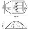 Палатка трехместная Nordway  Cadaques 3 - фото 3