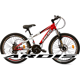"""Велосипед горный подростковый Ardis Rocks 24"""" бело-красный рама - 12"""""""