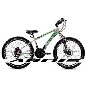 """Велосипед горный подростковый Ardis Racer 24"""" бело-зеленый рама - 13"""""""