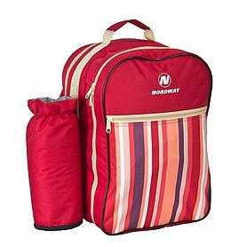 Фото 1 к товару Рюкзак для пикника на 3 персоны Nordway красный