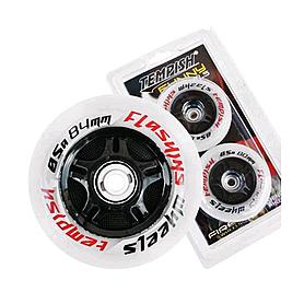 Колеса для роликов Tempish Flashing светящиеся 80x24 мм 85A