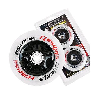 Колеса для роликов Tempish Flashing светящиеся 84x24 мм 85A