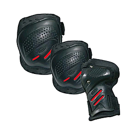 Защита для катания на роликах (комплект) Tempish Cool max черная, размер - XL