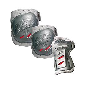 Фото 1 к товару Защита для катания на роликах (комплект) Tempish Cool max серебряная, размер - S