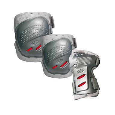 Защита для катания на роликах (комплект) Tempish Cool max серебряная, размер - XL