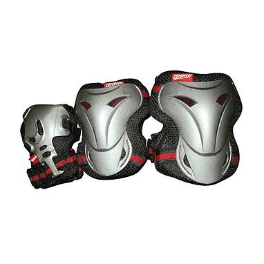 Защита для катания на роликах (комплект) Tempish Jolly черно-красная, размер - M