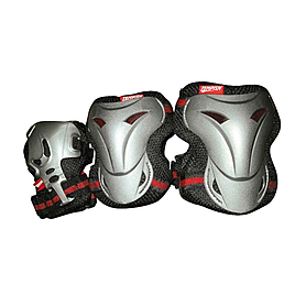 Защита для катания на роликах (комплект) Tempish Jolly черно-красная, размер - L