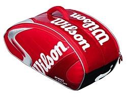 Фото 1 к товару Распродажа*! Сумка теннисная Wilson Pro Tour на 4 ракетки