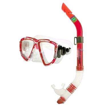 Набор для плавания Dorfin (ZLT) детский (маска+трубка) красный