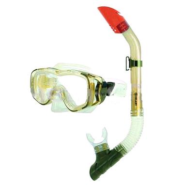 Набор для плавания Dorfin (ZLT) детский (маска+трубка) зеленый