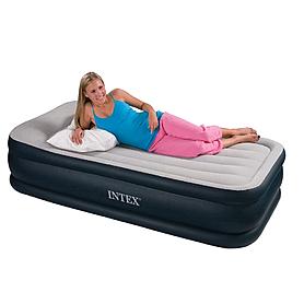 Фото 2 к товару Кровать надувная односпальная Intex 67732 (191х99х43 см)