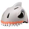 Шлем анимированный Crazy Safety 3D Белая Акула с фонариком - фото 1